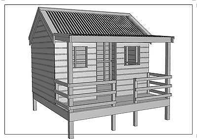 "CUBBY HOUSE - PLAY HOUSE - ""Great Aussie Outback Style"" - Building Plans"