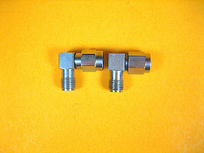 Adapter -  SMA Male to SMA Female -  Right Angle (Lot of 2)
