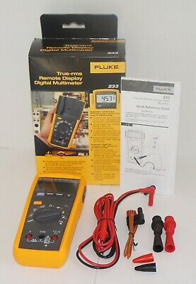 Fluke 233 True Rms Remote Display Detachable Face Digital Multimeter New