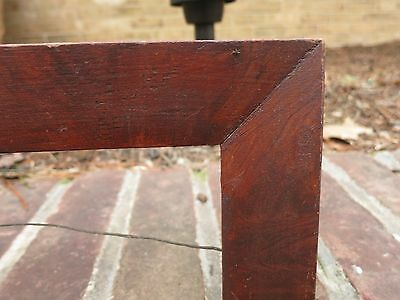 1840 AMERICAN OXBLOOD RED SWIRL Grain Painted Pa Folk Primitive FRAKTUR Frame