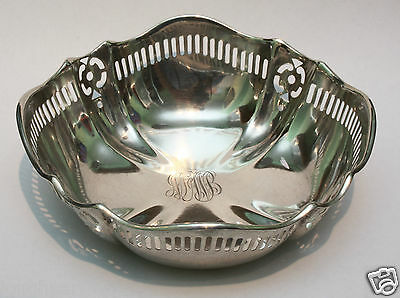 Vintage Solid Sterling Silver Ornate Pierced Bon Bon Dish Bowl 70g