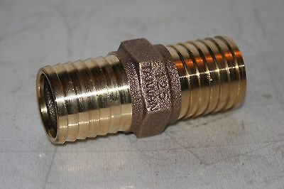 "1-1/4"" (1.25"")  Low Lead Brass Hose Barb Coupling Fitting  Merrill RBMANL125"