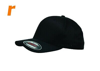 FLEXFIT Double Black Cap (Black Under Peak) also JUMBO Size BEST FEEDBACK