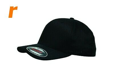 Flexfit Double Black Cap (Black Under Peak) also JUMBO Size