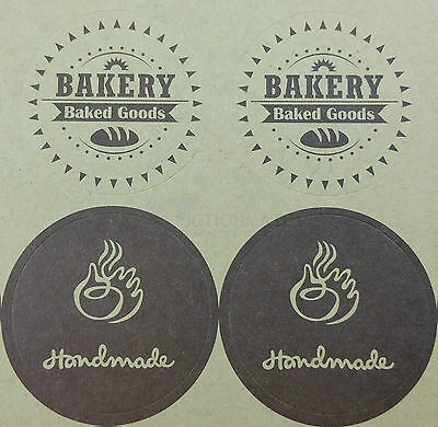 160x Bakery Coffee Shop Café Cup Cake Muffin Buscuit Stickers Labels Seals Bulk