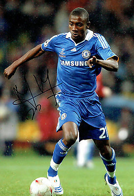 Salomon KALOU SIGNED Autograph 12x8 RARE Photo AFTAL COA Chelsea Premier League
