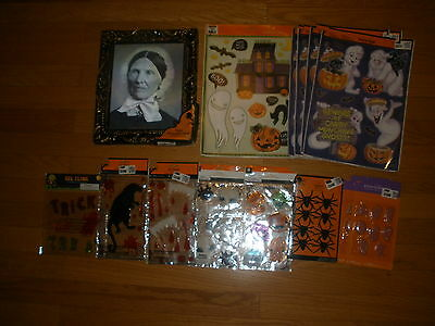 New Lot 14 Spooky Window/gel Clings Spider Holographic Pix Halloween Decorations