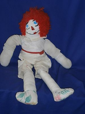 Vintage Hand Made Raggedy Ann or Andy Cloth Doll 20 inch
