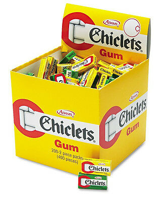 Chiclet Gum 200 Spearmint Peppermint 2pc candy pak CADBURY ADAMS Chiclets change