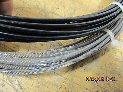 110 Feet Plastic Coated 7x7 Military Wire Rope 920 Pound Test 0.667 O.D. / 0.10