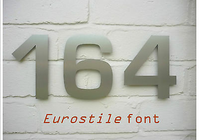 """3 digit contemporary stainless steel House Numbers - 15cm/6"""" FREE UK DELIVERY"""