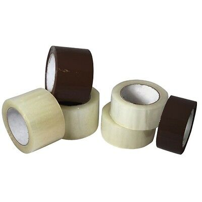 "36 ROLLS Carton Box Sealing Packaging Packing Tape 2.1mil 2"" x 110 yard Clear"