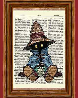 Vivi Final Fantasy Dictionary Art Print Poster Picture Game Kingdom Hearts IX