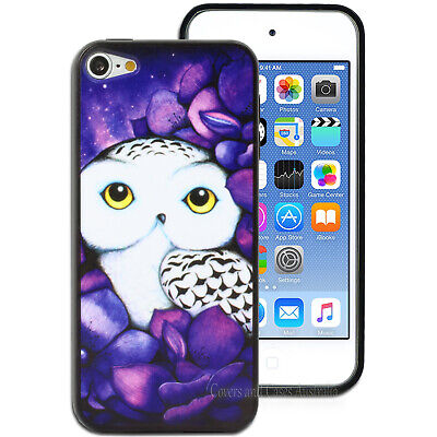 Purple Snowy Owl Hard Back Case for Apple iPod Touch 5 5th 6 6th Gen Cover