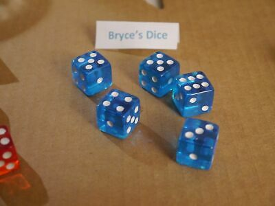 NEW 10 Transparent Green RPG Bunco Gaming Dice Set 16mm D6 Great Quality