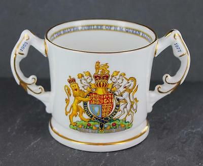 Quality AYNSLEY bone china 1977 Queen's SILVER JUBILEE commemorative LOVING CUP