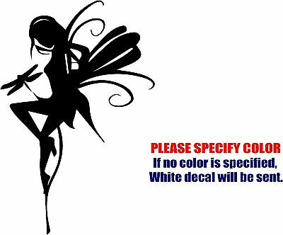 Fairy with Dragonfly Decal Sticker JDM Funny Vinyl Car Window Bumper Truck 12""