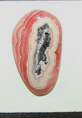 Pink Rhodochrosite Cabochon 34x20mm with 6mm dome (9489)