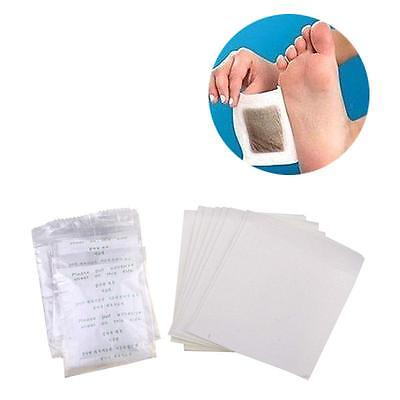Stylish 10Pcs Herbal Detox Foot Pads Detoxification Cleansing Patches UK HY