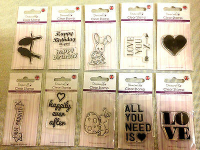 Dovecraft Photopolymer Acrylic Clear Stamps.