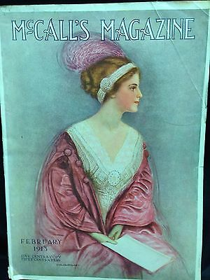 Antique 1913 McCall's Magazine February Issue