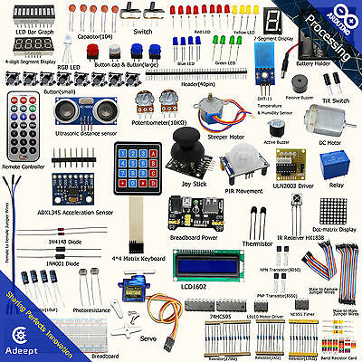 Adeept ultimate starter learning kit set for arduino r3 LCD1602 servo process CL