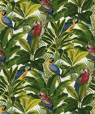 Grandeco Exotic Red Wallpaper A11502 Tropical Forest Parrots Birds