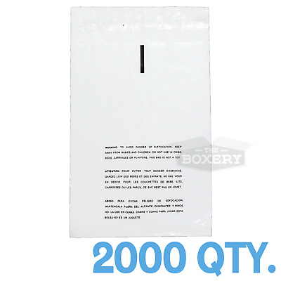 2000 8x10 Self Seal Suffocation Warning Clear Poly Bags 1.5 mil Free Shipping
