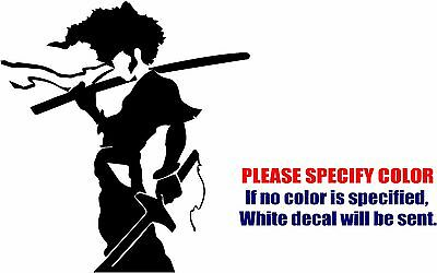 Afro Samurai Decal Sticker JDM Funny Vinyl Car Window Bumper Truck Laptop 6""
