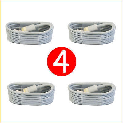 4X OEM Lightning USB Cable For Apple iPhone 6s Plus 6 SE 5s 7 Charger Data Sync