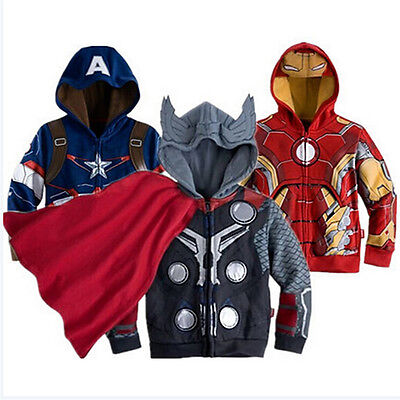 Kids Toddler Boys' Clothing Superhero Hoodie Hooded Jacket Jumper Sweatshirt