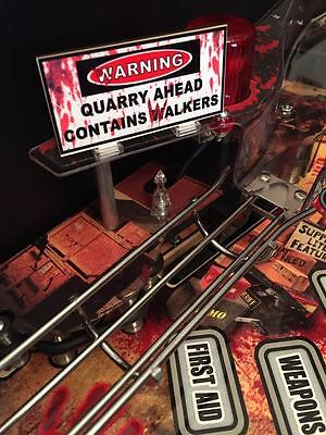 Warning Quarry Sign MOD for Stern's The Walking Dead pinball machine - BRAND NEW