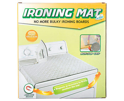 Magnetic Portable Ironing Mat - Silver