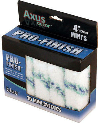 Axus Decor Pro-Finish Mini Roller Sleeve - Blue (Pack of 10)