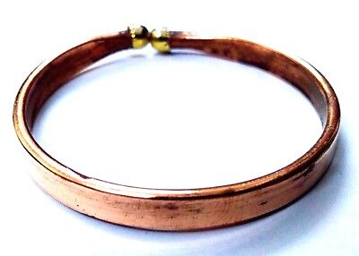 Flat Copper Adjustable Bracelet Cuff Wristlet Wrist Band Bangle Luck - Men Women
