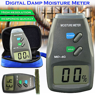 New 4 Pin Moisture Meter Digital Damp Tester Detector Plaster Timber Wood UK