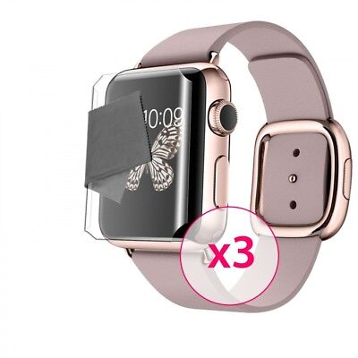 Films de protection Ultra Clear HD Pour Apple Watch (38 mm) Full Cover + X3