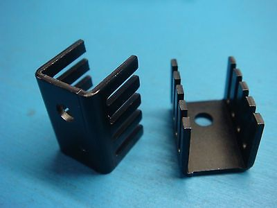 (10) Aavid Thermalloy 577202B00000 TO-220 SLIM CHANNEL BLACK ANODIZED HEATSINK