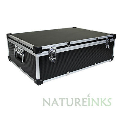 1 NEO Black Aluminium 1000 CD DVD DJ Flight case with numbered sleeves