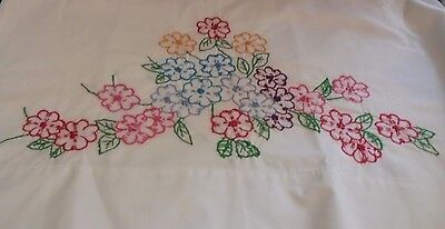 Pair of bright flower clusters chic set standard size embroidered pillowcases