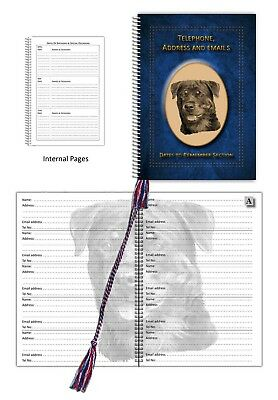 Rottweiler Dog Telephone, Address Book & Dates section, choice of 3 colours Gift