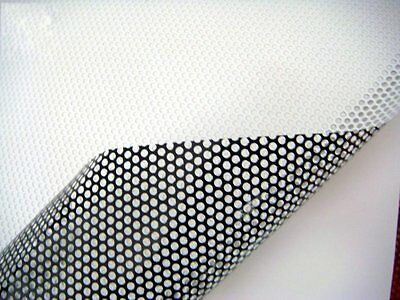 Perforated Film Mesh Tinting Headlights Tint Car Window Wrap Legal Fly-Eye White