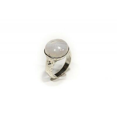Bague argent 925 spepectrolite ronde 14 mm