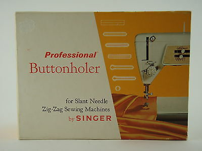 VINTAGE Singer Professional Buttonholer Sewing Machine Attachment in BOX - EUC!
