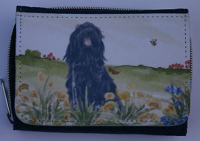 Briard Dog Denim Blue Ladies Purse Wallet Sandra Coen Artist Print
