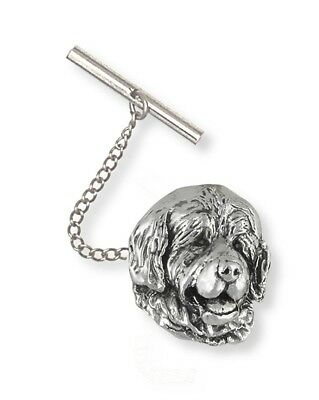 Handmade Newfoundland Dog Tie Tack or Lapel Pin Jewelry Sterling Silver HM-NU2-R