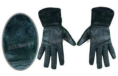 Women's Ladies Thinsulate Leather Gloves Soft Fleece Lined Fur Cuff Warm Gloves