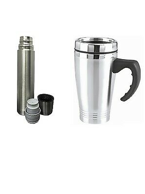 NEW Vacuum Flask Stainless Steel Coffee Bottle Thermos 500ml Or 16oz Travel Mug