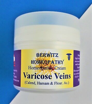 Homeopathic Varicose Veins Cream, Soothing Healing Itch Relief, + Free Arnica 6