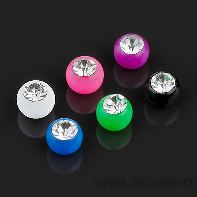 1,2 - 1,6mm Piercing Screw-ball Zirconia Crystal Spare Clasp Ball Z342